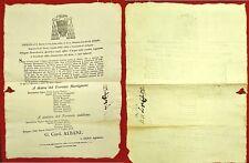 G60-STATO PONTIFICIO, BOLOGNA, ALLARGAMENTO DEL TORRENTE MARTIGNONE, ANZOLA,1828