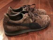 Puma Classic Roma Women s Brown Black Suede Athletic Casual Shoes Sz 9 7c919f72b