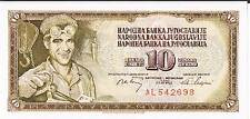 YUGOSLAVIA BANKNOTE 10 P82b 1968 UNC	 6 digit serial # without serifs