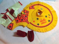 Vintage 1950's Sally Star Cow Girl Outfit and boots