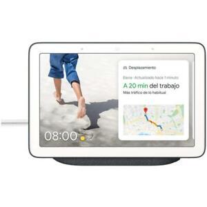 """Google Nest Hub Nero GA00515-ES Assistente virtuale Smart 7"""" NUOVO"""