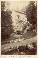 France, La Grande Chartreuse. Chapelle de St. Bruno  Vintage albumen print.  T