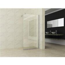 Parete Doccia in vetro trasparente 8mm 100 120 140 altezza 200 cm alluminio|q