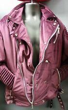 Men's Black Keys Velvet Biker Jacket - Burgundy