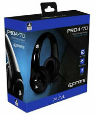 PS4 Gaming Chat Headset with Mic BLACK Officially Licensed PRO4-70 PlayStation 4