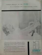 1955 Lennox air conditioning conditioned home woman smiling vintage ad