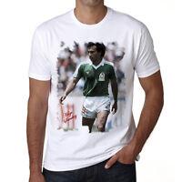 Hugo Sanchez t shirt homme, Manches Courtes, Coton blanc cadeau