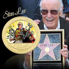 Recuerde Stan Lee Gold Plated Art Crafts Coin Fans Regalo de recuerdo