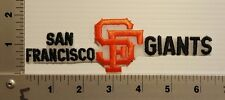1-PCS SAN FRANCISCO GIANTS   (LONG)  (ORANGE & BLACK) VINTAGE EMBROIDERED PATCH