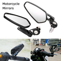 2pcs 7/8'' Motorcycle Handle Bar End Side Rearview Motorbike Mirror Universal