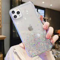 Bling Rubber Shockproof Case TPU Cover For iPhone 6 7 8 Plus X XR XS 11 Pro Max