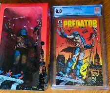 NECA Dark Horse Comics 25th Anniversary Predator New and Predator #1 CGC 8.0 whi