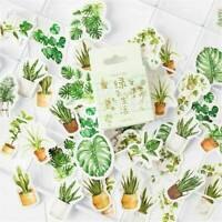 45Pcs Potted Plant Stickers Sealing Diary Label DIY Travel Sticker Scrapbooking