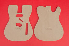 """Telecaster Router Template BodySet with Neck Humbucker PAF 1/2"""" Thick MDF """"Keef"""""""