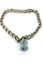 More details for sid rabbit r padlock and chain choker. punk