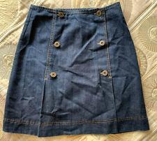 Oasis Jeans Ladies Denim Skirt Size 8 Blue Button Front Detail