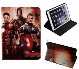 iPad mini 1 2 3 4 5 Avengers Iron Man Captain America Marvel Smart Case Cover +
