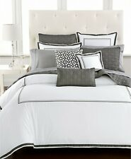 Hotel Collection Embroidered Frame Quilted Euro Sham white