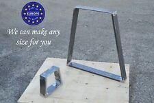 Handmade Metal Table Legs, Steel Dining Table Legs - Trapezium Design /SET of 2/