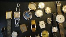 Vintage Watch Lot Mechanical JUNK Parts Repair Omega Seiko Swiss Army Elgin