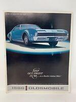 Oldsmobile 1966 Car Dealer Showroom Sales Brochure Vintage Original 18-1254