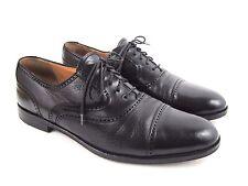 MIGUEL ANGEL Men's Black Leather Lace Up Cap Toe Oxford Shoes Spain Size 11 M