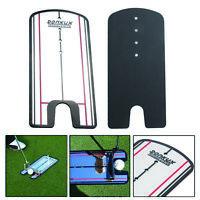 Golf Putting Mirror Alignment Training Aid Swing Trainer Eye Line NI5L