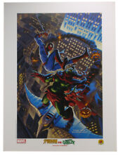 Spider-Man Vs Green Goblin Lithograph by Greg Tim Hildebrandt Marvel Comics 2002