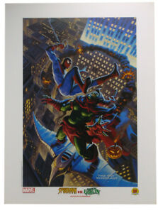 Spider-Man Vs Green Goblin Lithograph by Greg Tim Hildebrandt Marvel Comics 2002