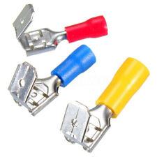 100Pcs Red&Blue&Yellow Piggyback Insulated Spade Crimp Terminal Connectors