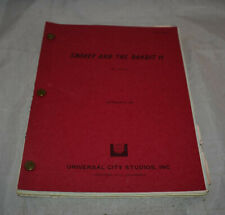 Smokey And The Bandit 2 Final Draft Script Revised Burt Reynolds Universal 1979