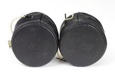 Leica Soft Black Leather Lens Case 6.5 x 7cm with Tag '' Leder Echtes''