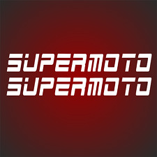 2x SUPERMOTO RACING Motorrad Motorradaufkleber Auto Aufkleber passt für ktm KTM