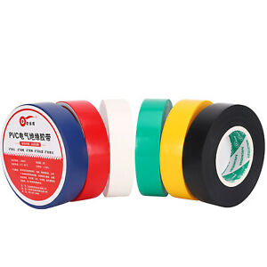 Electrical PVC Insulation Insulating Tape Flame Retardant Coloured 18mm X 18m