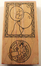 Happy Birthday Card Maker With Rotation Wheel Rare Wooden Rubber Stamp
