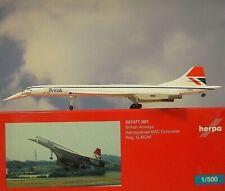 Herpa Wings 1:500  Concorde British Airways G-BOAF  527477-001  Modellairport500