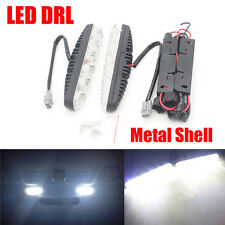 Car Headlight DRL 6 LED daytime running lights with lens High Power Fog Light