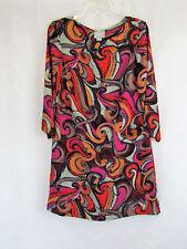 MINT! MAEVE Anthropologie Flavia Mod Swirl Polyester LIned Shift Dress S  B5