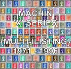 GB 1971 - 1996 Machin Definitives X Series (Multiple Listing) Unmounted Mint