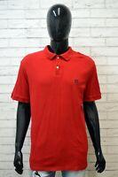 Polo Maglia Uomo CHAPS Taglia XL Manica Corta Shirt Hemd Cotone Rosso Jersey