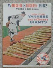 1962 World Series Program Game 3  Yankees vs Giants Scored EX