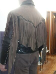 Motorcycle Jacket, Leather, Fringed, Lined (Thinsulate), Wilsons, Large