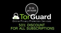 Torguard 50 % off Coupon / promo code / discount / 50% Off For Life Code