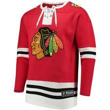 New $85 Chicago Blackhawks Fanatics Brand Breakaway Laced-up Sweatshirt Sz L