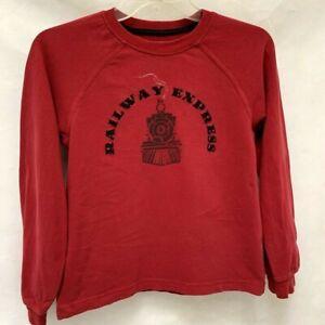 Gymboree Sz 8 Sweatshirt Red Railway Express Graphic Long Sleeve T-Shirt Boys