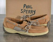Sperry Top-Sider Intrepid Tan Boat Shoes Men's 12 MED Classic Leather Shoe NEW