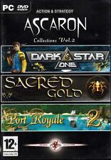 JEU PC DVD ROM../..ASCARON../..DARK STAR ONE../..SACRED GOLD../..PORT ROYALE  2.