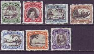 Cook Islands 1932 SC 84-90 MH Set