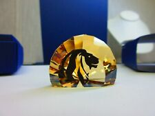 Swarovski Collectible Scs Lions Head Paper Weight Model 5003407