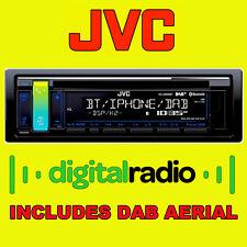 JVC DAB Digital Radio Car Van CD MP3 Stereo Bluetooth iPod iPhone Ready & Aerial